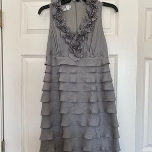 Silver gray knee length dress